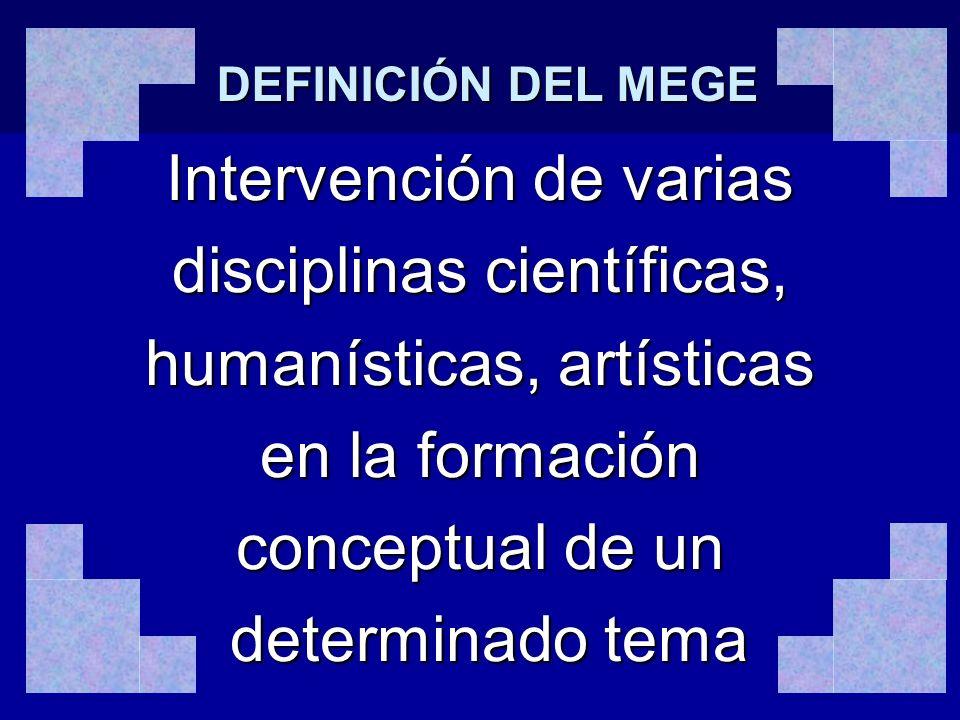 Intervención de varias disciplinas científicas,