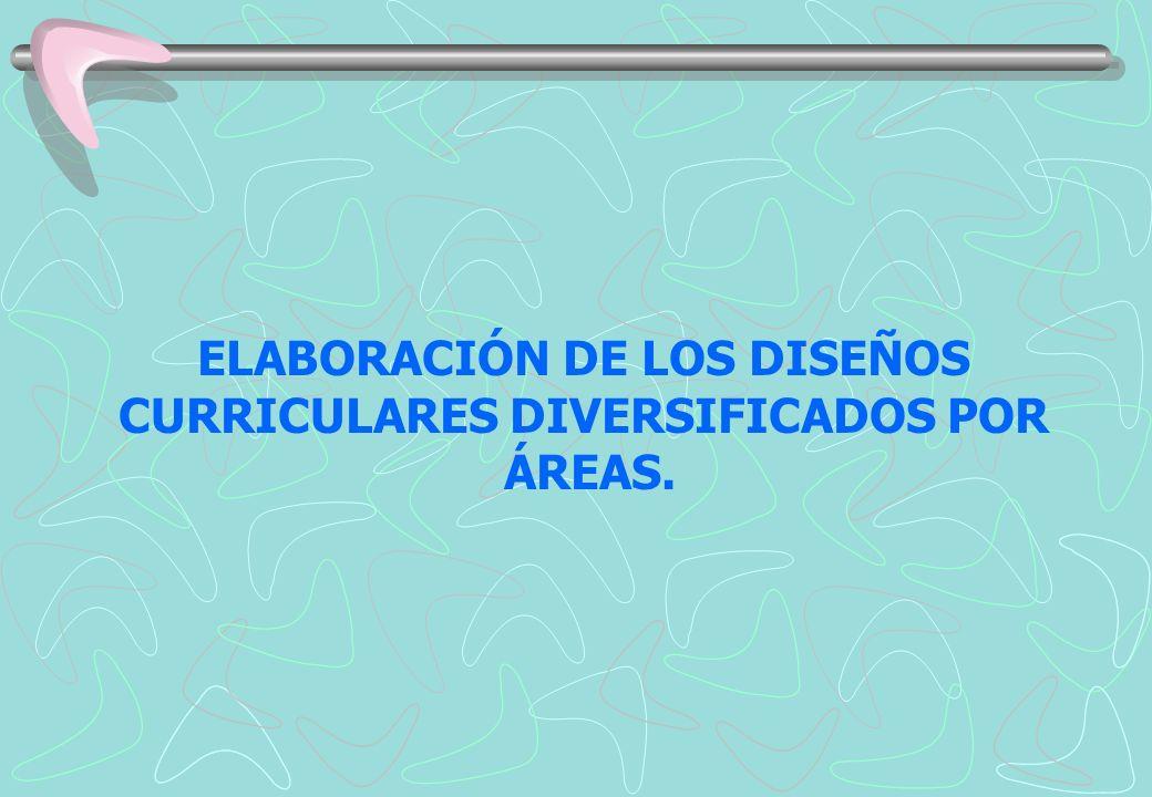 ELABORACIÓN DE LOS DISEÑOS CURRICULARES DIVERSIFICADOS POR