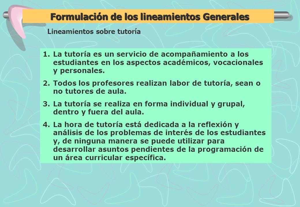 Lineamientos sobre tutoría