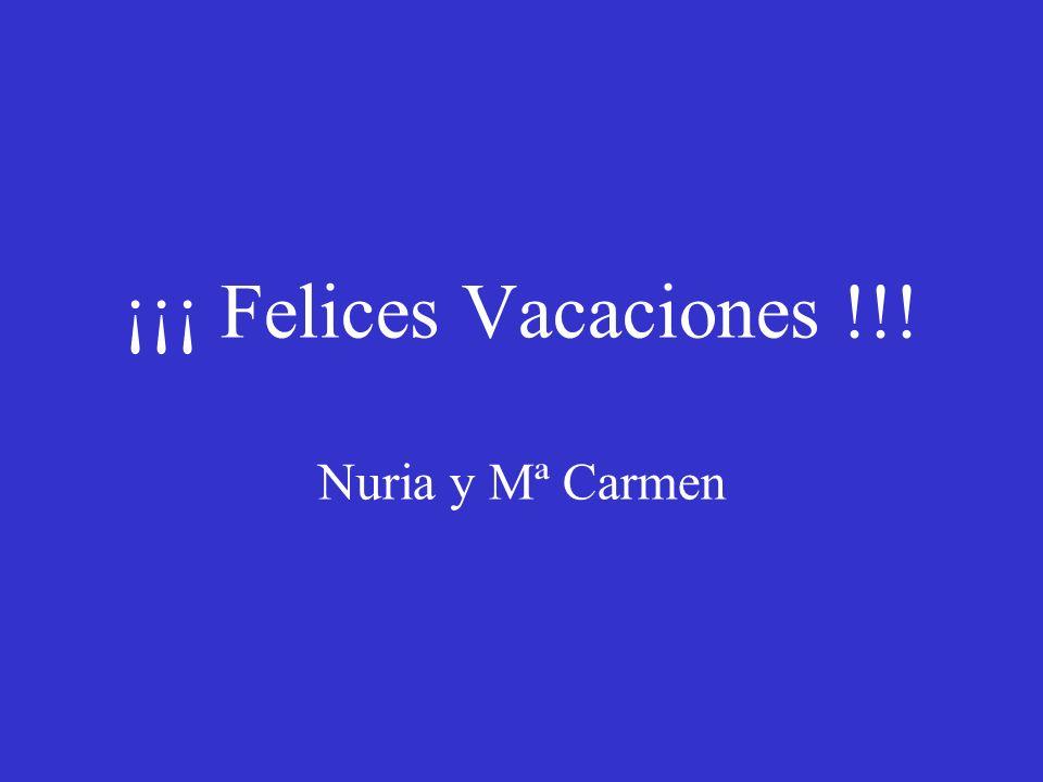 ¡¡¡ Felices Vacaciones !!! Nuria y Mª Carmen