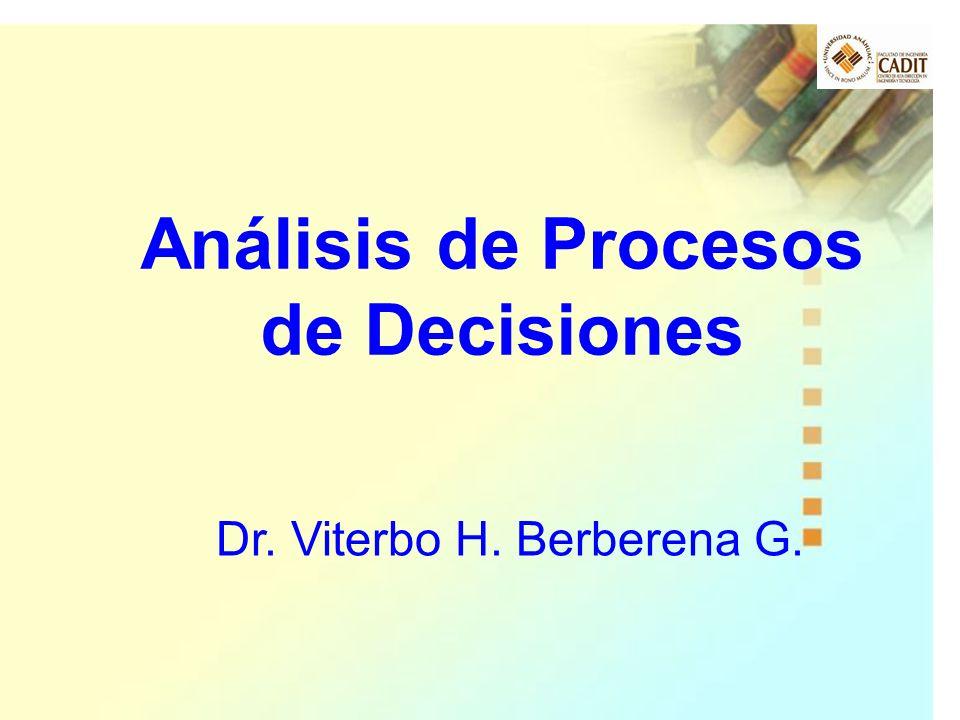 Análisis de Procesos de Decisiones