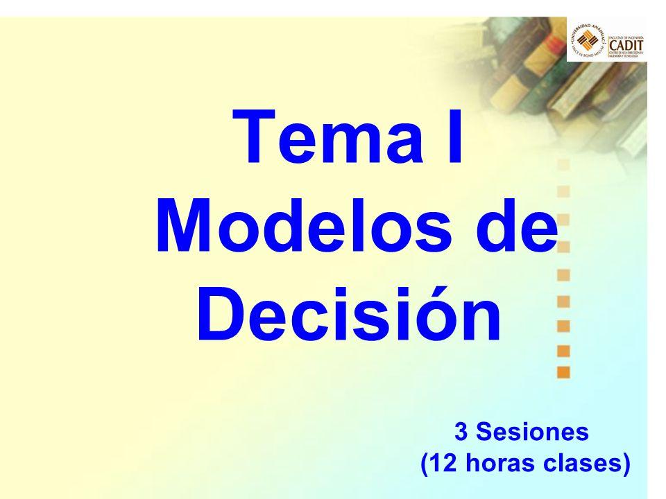 Tema I Modelos de Decisión