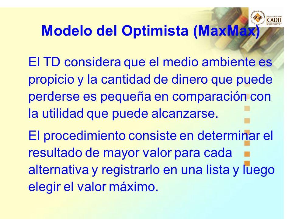 Modelo del Optimista (MaxMax)