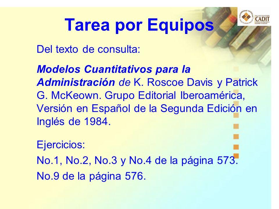 Tarea por Equipos Del texto de consulta: