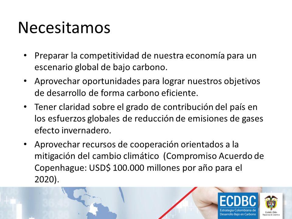 Necesitamos Preparar la competitividad de nuestra economía para un escenario global de bajo carbono.