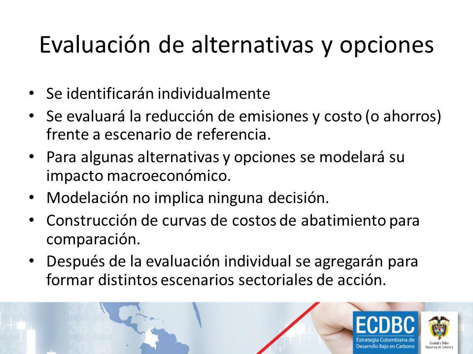 Evaluación de alternativas y opciones