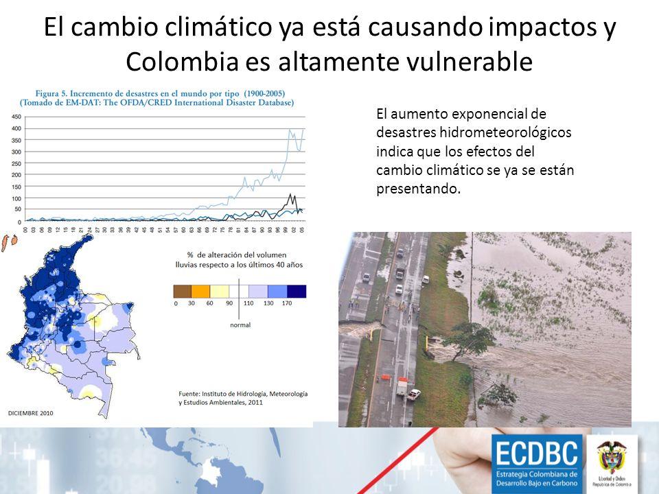 El cambio climático ya está causando impactos y Colombia es altamente vulnerable