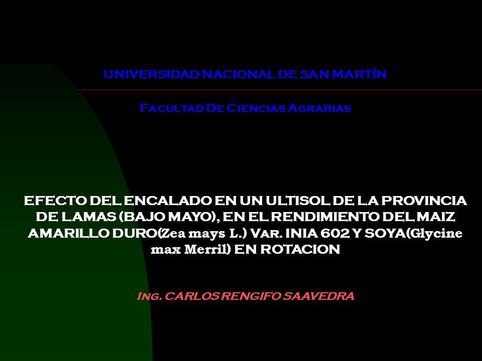 UNIVERSIDAD NACIONAL DE SAN MARTÍN Facultad De Ciencias Agrarias