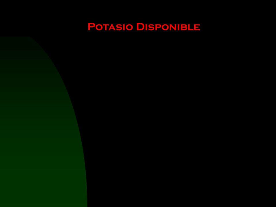 Potasio Disponible