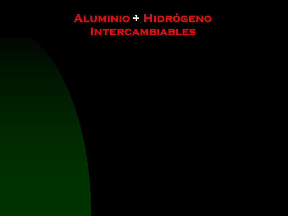 Aluminio + Hidrógeno Intercambiables