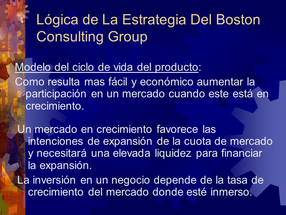 Lógica de La Estrategia Del Boston Consulting Group