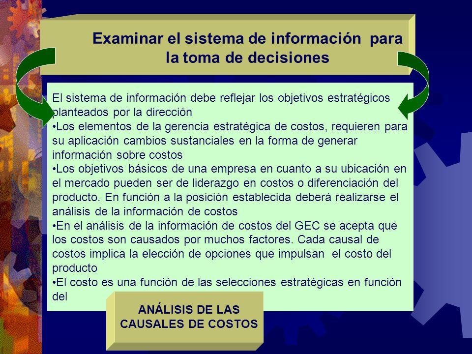 Examinar el sistema de información para la toma de decisiones
