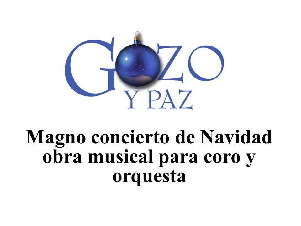 Magno concierto de Navidad obra musical para coro y orquesta