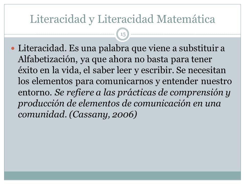 Literacidad y Literacidad Matemática