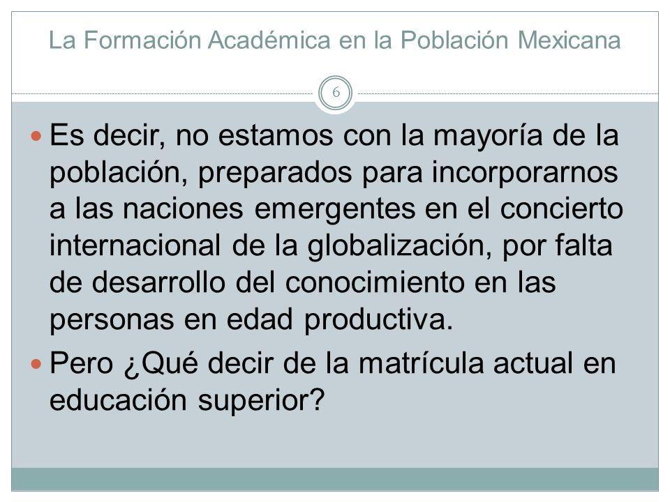 La Formación Académica en la Población Mexicana