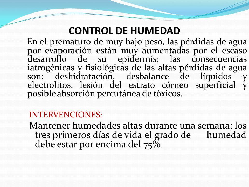 CONTROL DE HUMEDAD