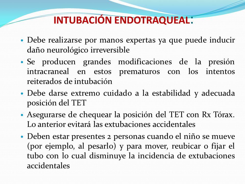 INTUBACIÓN ENDOTRAQUEAL: