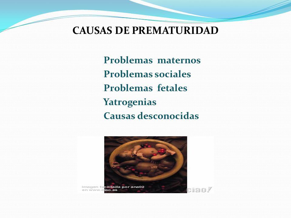 CAUSAS DE PREMATURIDAD
