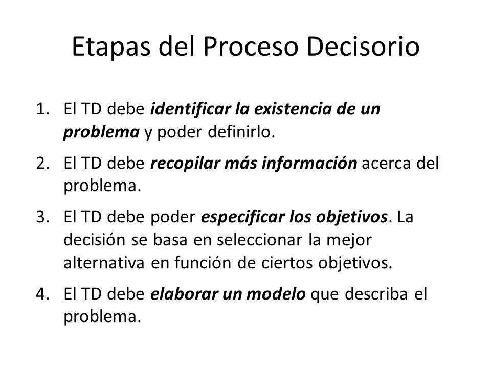 Etapas del Proceso Decisorio