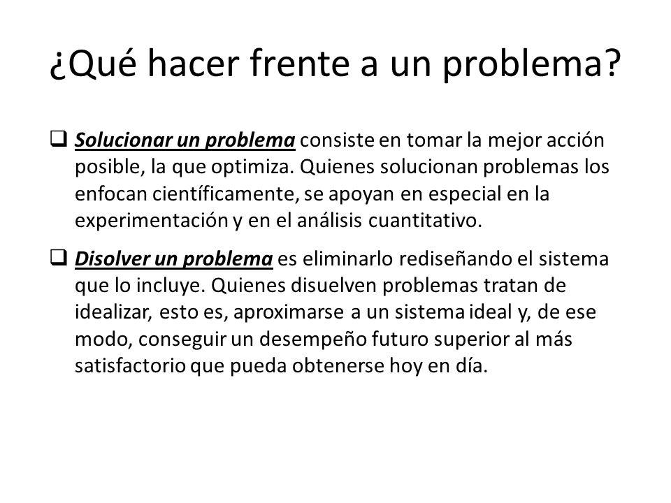 ¿Qué hacer frente a un problema