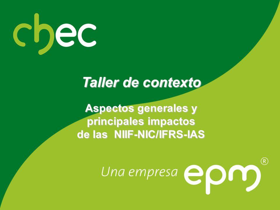 Centrales Hidroeléctricas de Caldas de las NIIF-NIC/IFRS-IAS