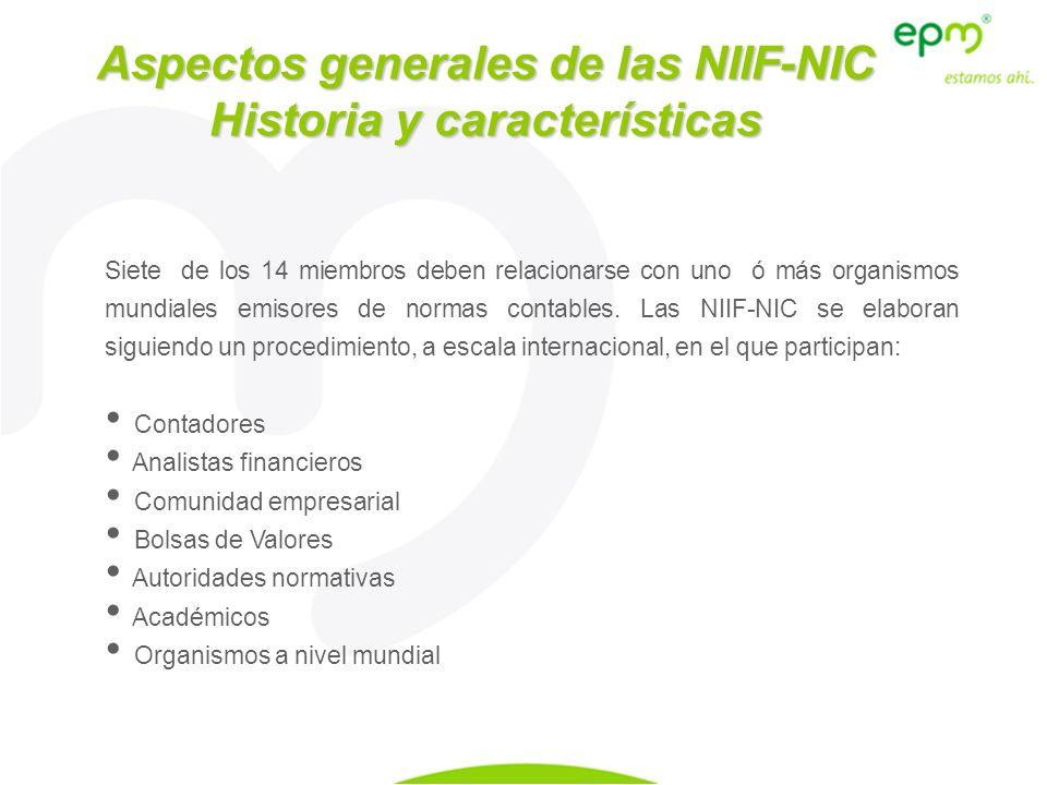 Aspectos generales de las NIIF-NIC Historia y características