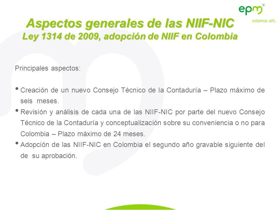 Aspectos generales de las NIIF-NIC
