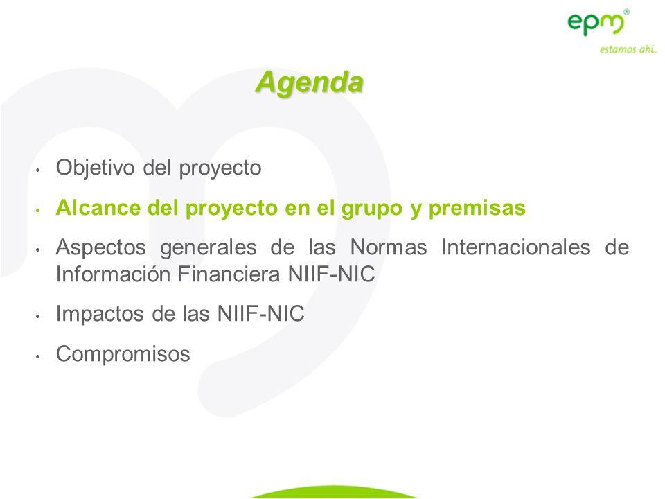 Agenda Objetivo del proyecto