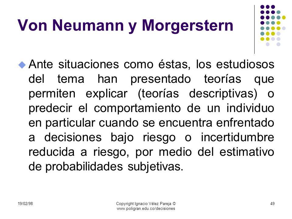 Von Neumann y Morgerstern