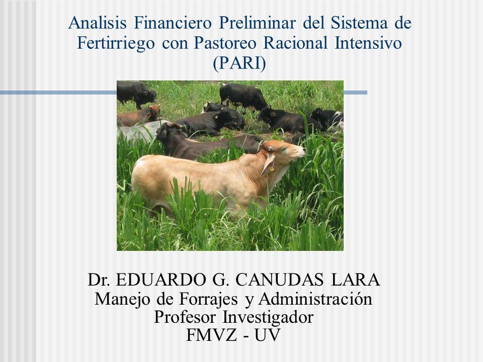Dr. EDUARDO G. CANUDAS LARA Manejo de Forrajes y Administración