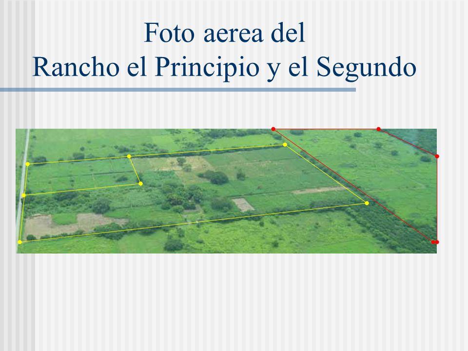 Foto aerea del Rancho el Principio y el Segundo