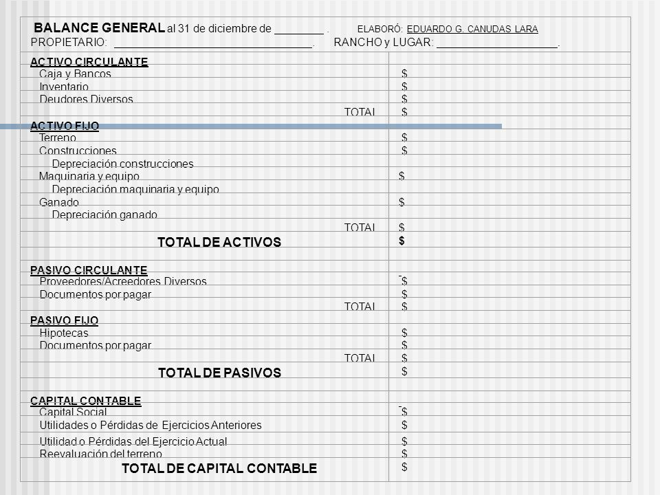 TOTAL DE CAPITAL CONTABLE