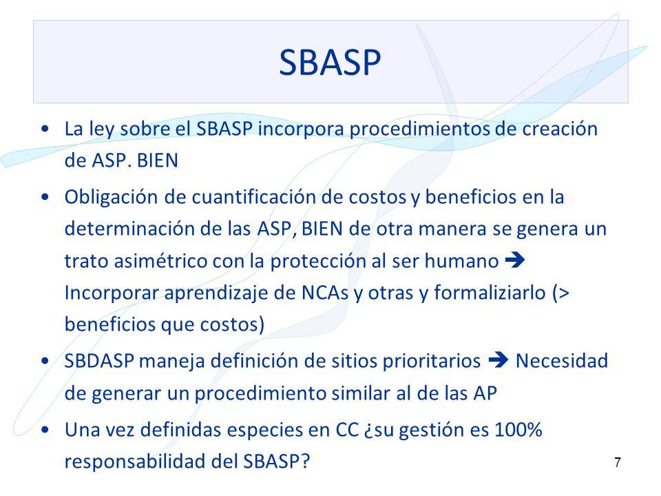 SBASP La ley sobre el SBASP incorpora procedimientos de creación de ASP. BIEN.