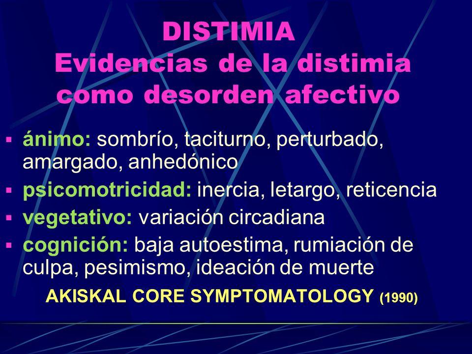 DISTIMIA Evidencias de la distimia como desorden afectivo