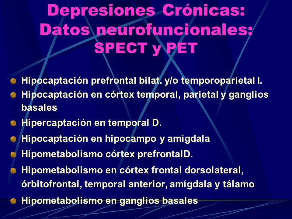 Depresiones Crónicas: Datos neurofuncionales: SPECT y PET