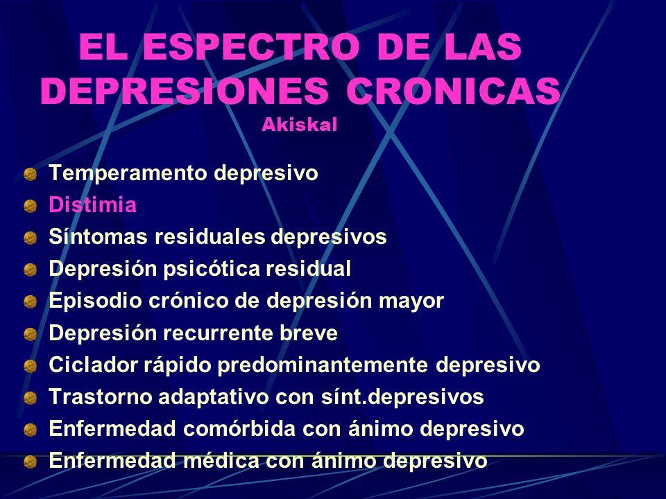 EL ESPECTRO DE LAS DEPRESIONES CRONICAS Akiskal