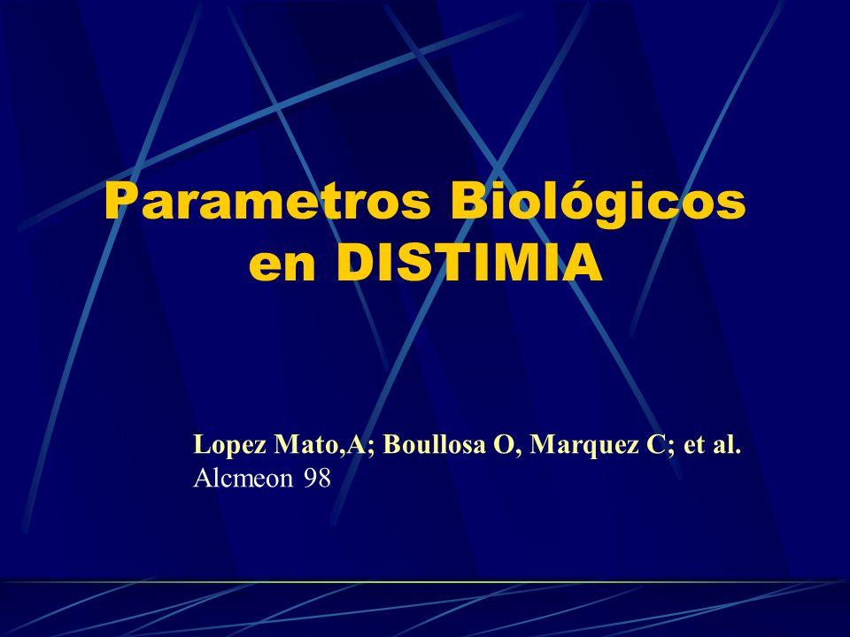 Parametros Biológicos en DISTIMIA