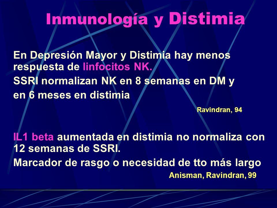 Inmunología y Distimia