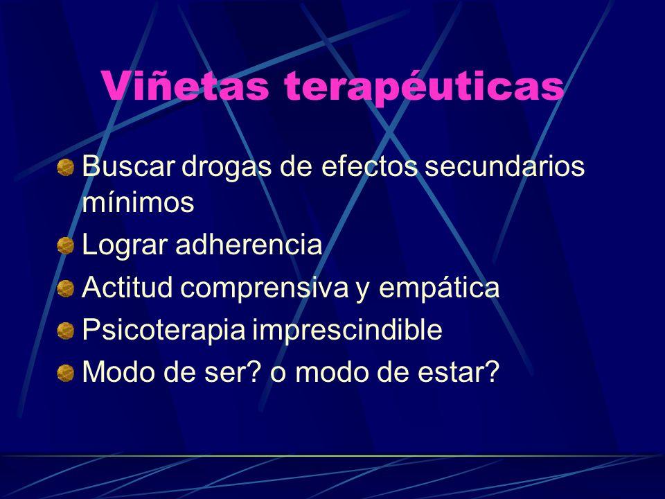 Viñetas terapéuticas Buscar drogas de efectos secundarios mínimos