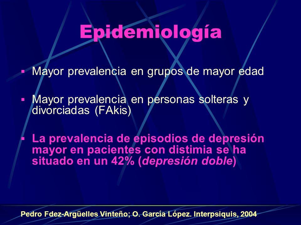 Epidemiología Mayor prevalencia en grupos de mayor edad