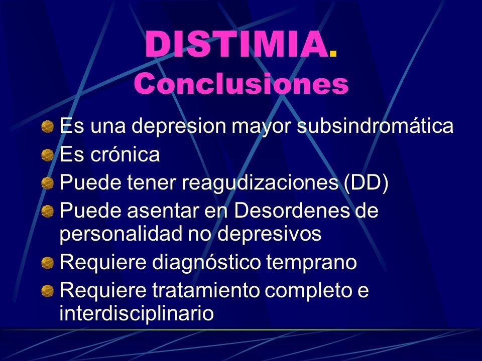 DISTIMIA. Conclusiones