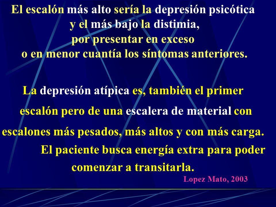 El escalón más alto sería la depresión psicótica
