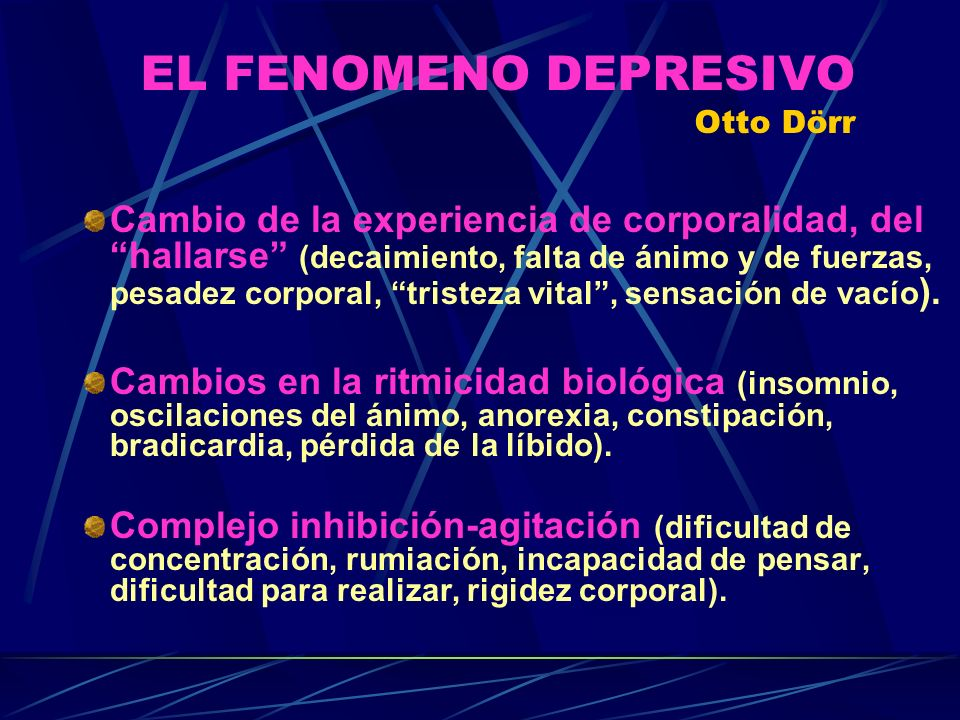 EL FENOMENO DEPRESIVO Otto Dörr