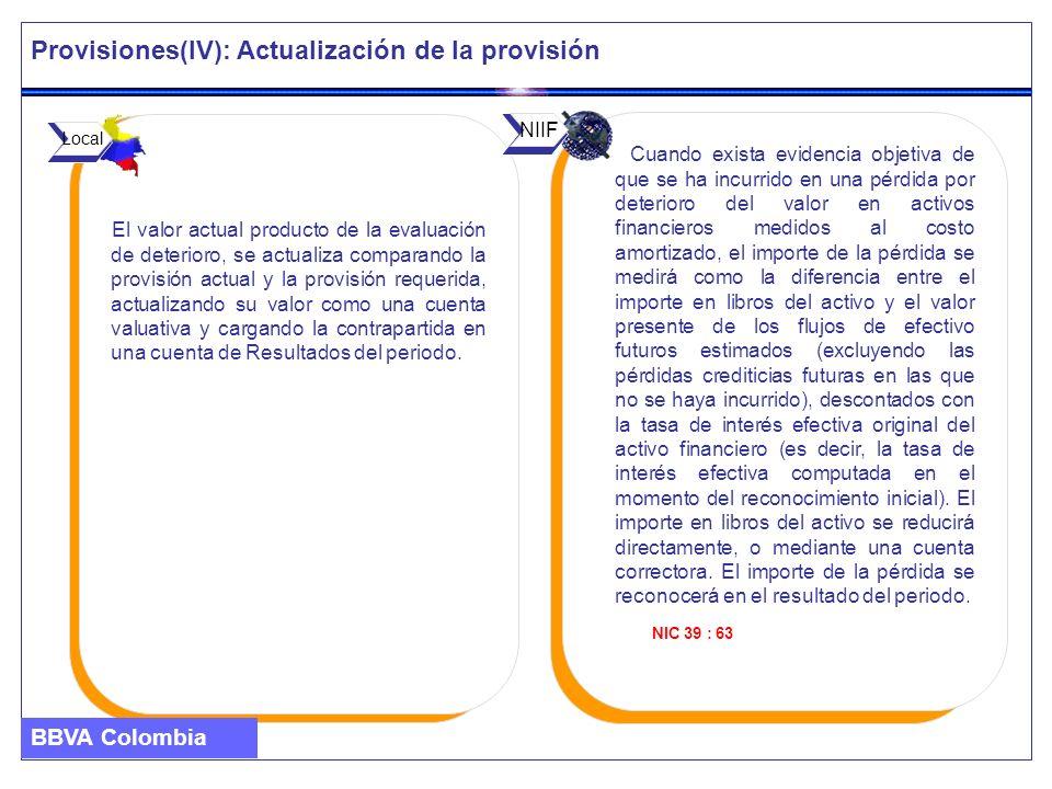 Provisiones(IV): Actualización de la provisión