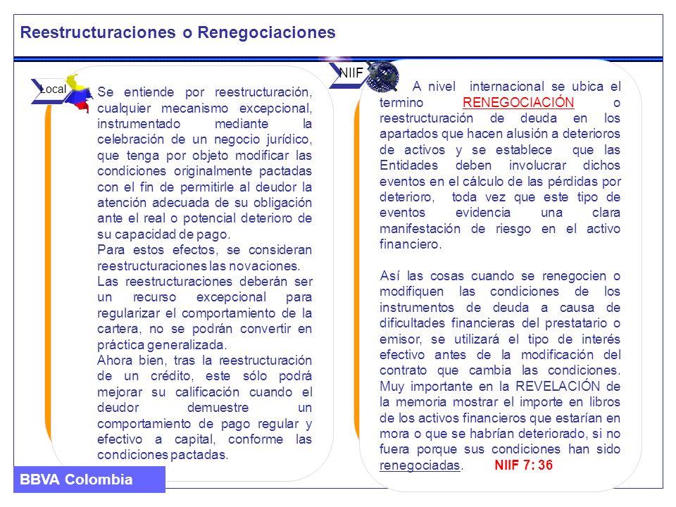 Reestructuraciones o Renegociaciones