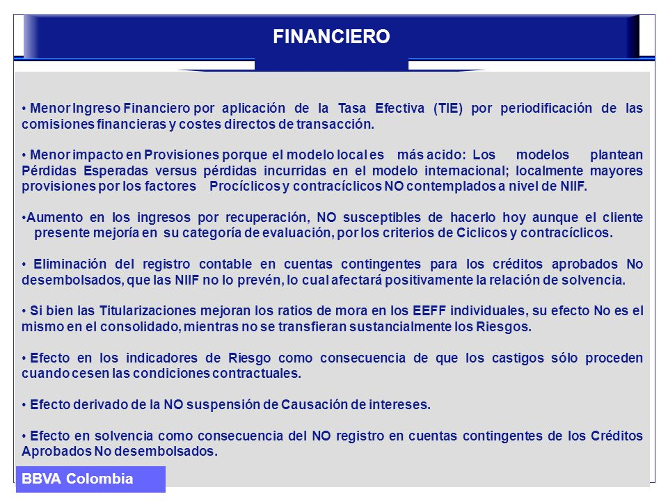 FINANCIERO BBVA Colombia