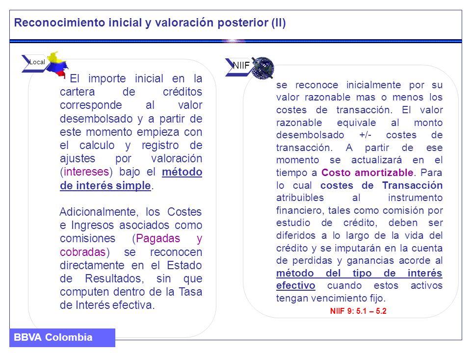 Reconocimiento inicial y valoración posterior (II)