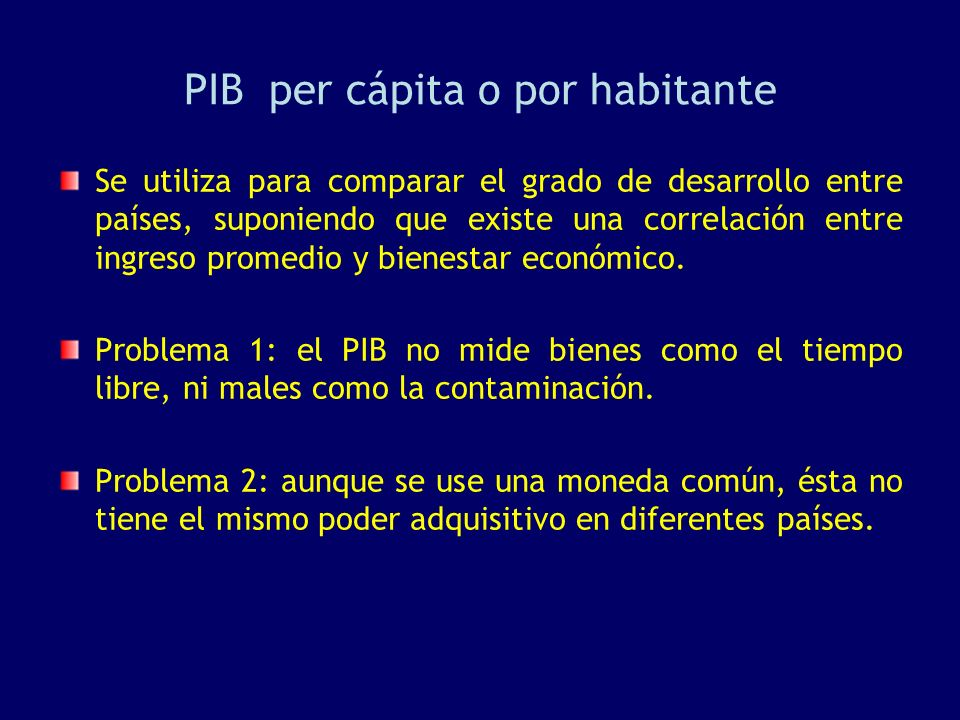 PIB per cápita o por habitante