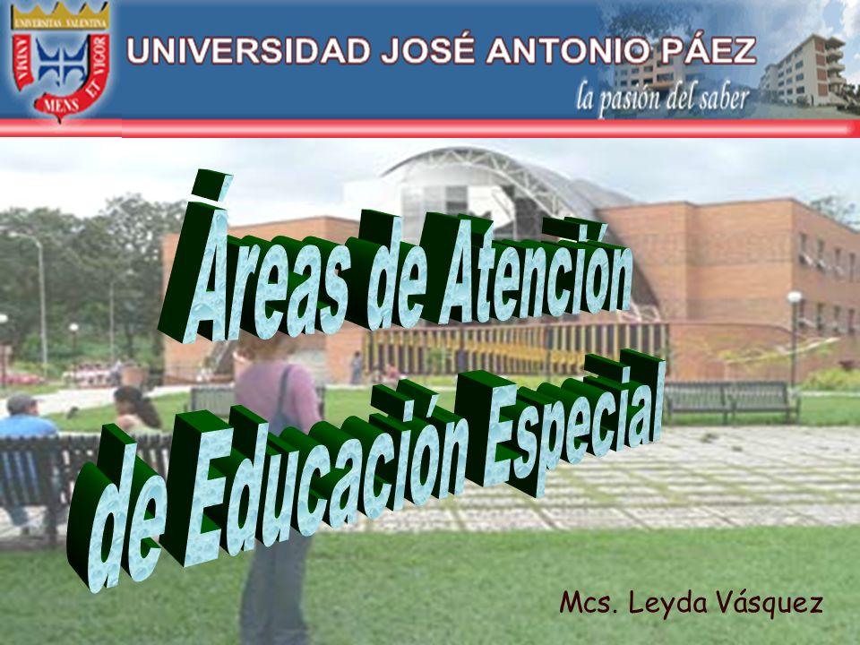 Áreas de Atención de Educación Especial Mcs. Leyda Vásquez