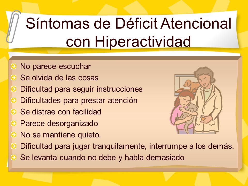Síntomas de Déficit Atencional con Hiperactividad